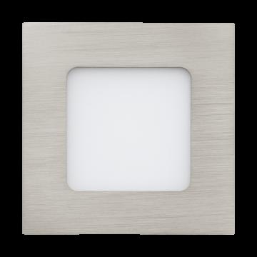 Встраиваемая светодиодная панель Eglo Fueva 1 95466, LED 2,7W 4000K 360lm CRI>80, никель, металл с пластиком, пластик