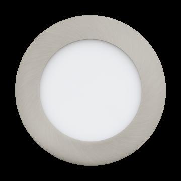 Встраиваемая светодиодная панель Eglo Fueva 1 95467, LED 5,5W 4000K 700lm CRI>80, никель, металл с пластиком, пластик