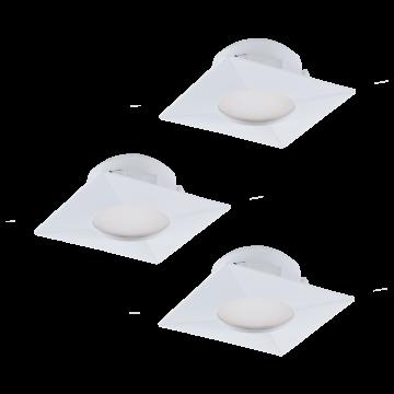 Встраиваемая светодиодная панель Eglo Pineda 95801, LED 6W, белый, пластик