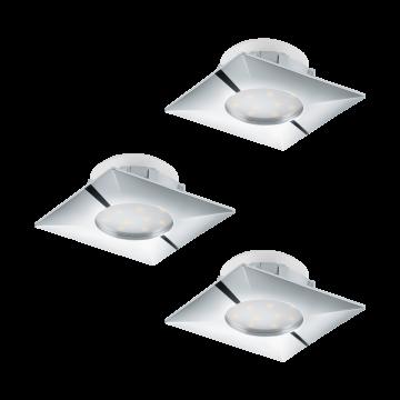 Встраиваемая светодиодная панель Eglo Pineda 95802, LED 6W, хром, пластик