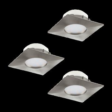 Встраиваемая светодиодная панель Eglo Pineda 95803, никель, пластик