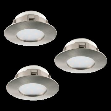 Встраиваемая светодиодная панель Eglo Pineda 95809, LED 6W, никель, пластик