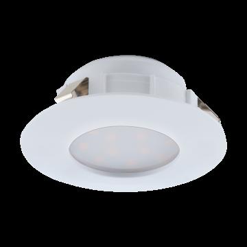 Встраиваемая светодиодная панель Eglo Pineda 95817, IP44, LED 6W 3000K 500lm, белый, пластик