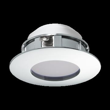 Встраиваемая светодиодная панель Eglo Pineda 95818, IP44, LED 6W, хром, пластик
