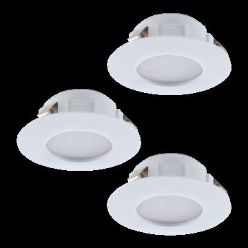 Встраиваемая светодиодная панель Eglo Pineda 95821, IP44, LED 6W 3000K 500lm, белый, пластик