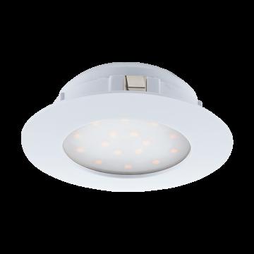 Встраиваемая светодиодная панель Eglo Pineda 95887, IP44, LED 12W 3000K 1000lm, белый, пластик