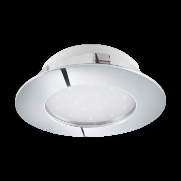 Встраиваемая светодиодная панель Eglo Pineda 95888, IP44, LED 12W 3000K 1000lm, хром, пластик