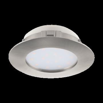 Встраиваемая светодиодная панель Eglo Pineda 95889, IP44, LED 12W 3000K 1000lm, никель, пластик