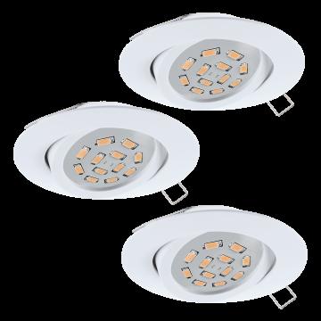 Встраиваемый светильник Eglo Tedo 31683, 1xGU10x5W, белый, металл