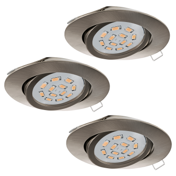 Встраиваемый светильник Eglo Tedo 31689, 1xGU10x5W, никель, металл