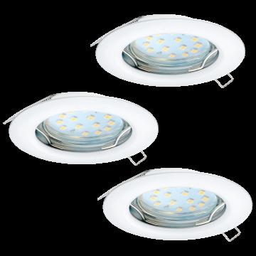 Встраиваемый светильник Eglo Peneto 94235, 1xGU10x3W, белый, металл
