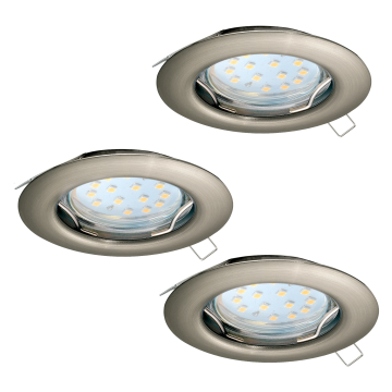 Встраиваемый светильник Eglo Peneto 94237, 1xGU10x3W, никель, металл