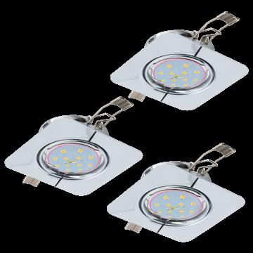 Встраиваемый светильник Eglo Peneto 94267, 1xGU10x5W, хром, металл