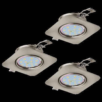 Встраиваемый светильник Eglo Peneto 94268, 1xGU10x5W, никель, металл