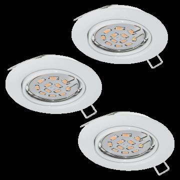 Встраиваемый светильник Eglo Peneto 94406, 1xGU10x5W, белый, металл