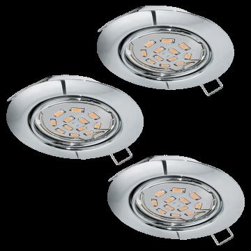 Встраиваемый светильник Eglo Peneto 94407, 1xGU10x5W, хром, металл