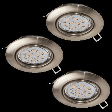 Встраиваемый светильник Eglo Peneto 94408, 1xGU10x5W, никель, металл