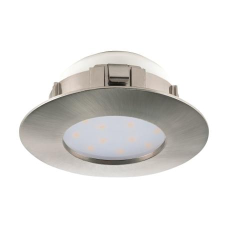 Встраиваемый светодиодный светильник Eglo Pineda 95819, IP44, LED 6W 3000K 500lm, никель, пластик