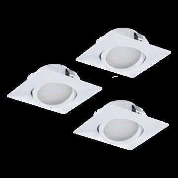 Встраиваемый светодиодный светильник Eglo Pineda 95844, LED 6W, белый, пластик