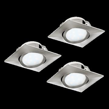 Встраиваемый светодиодный светильник Eglo Pineda 95846, LED 6W, никель, пластик