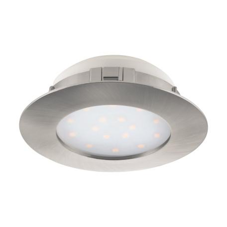Встраиваемый светодиодный светильник Eglo Pineda 95889, IP44, LED 12W 3000K 1000lm, никель, пластик
