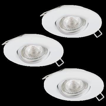 Встраиваемый светильник Eglo Peneto 1 95895, 1xGU10x3,3W, белый, металл