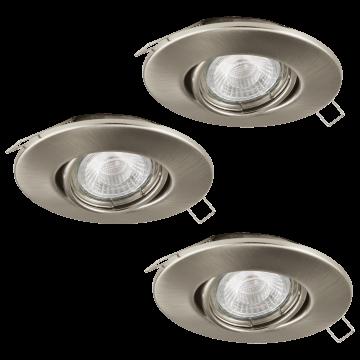 Встраиваемый светильник Eglo Peneto 1 95899, 1xGU10x3,3W, никель, металл