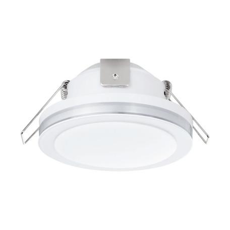 Встраиваемый светодиодный светильник Eglo Pineda 1 95917, IP44, LED 6W 3000K 500lm, белый, металл с пластиком, пластик