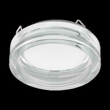 Встраиваемый светодиодный светильник Eglo Pineda 1 95922, IP44, LED 6W, 3000K (теплый), белый, прозрачный, металл, пластик