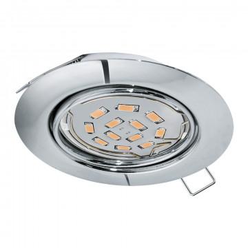 Встраиваемый светильник Eglo Peneto 94241, 1xGU10x5W, хром, металл