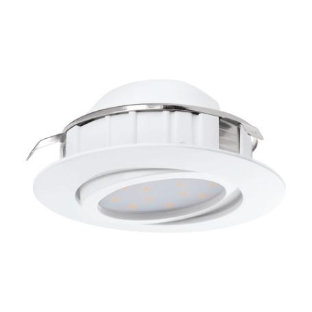 Встраиваемый светодиодный светильник Eglo Pineda 95847, LED 6W 3000K 500lm, белый, пластик