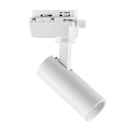 Светодиодный светильник с регулировкой направления света для шинной системы Lightstar Volta 227236, LED 7W 3000K 550lm, белый, металл