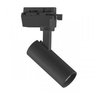 Светодиодный светильник с регулировкой направления света для шинной системы Lightstar Volta 227237, LED 7W 3000K 550lm, черный, металл