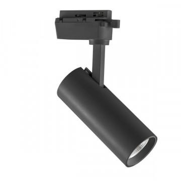 Светодиодный светильник с регулировкой направления света для шинной системы Lightstar Volta 228247, LED 20W 4000K 1900lm, черный, металл