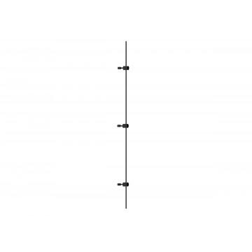 Магнитный шинопровод в сборе с питанием и заглушкой Donolux DL20223L2000 Black
