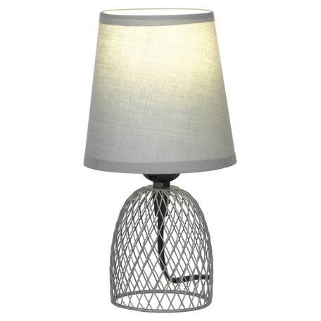 Светильник Lussole LGO Lattice GRLSP-0562, IP21, 1xE27x10W, серый, металл, текстиль