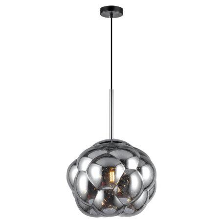 Светильник Lussole LGO Strawberry GRLSP-8211, IP21, 1xE27x10W, черный с хромом, хром с черным, дымчатый, металл, стекло