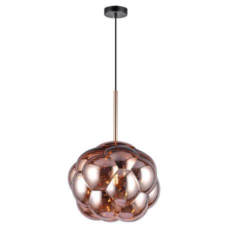 Светильник Lussole LGO Strawberry GRLSP-8212, IP21, 1xE27x10W, черный с медью, медь с черным, розовый, металл, стекло
