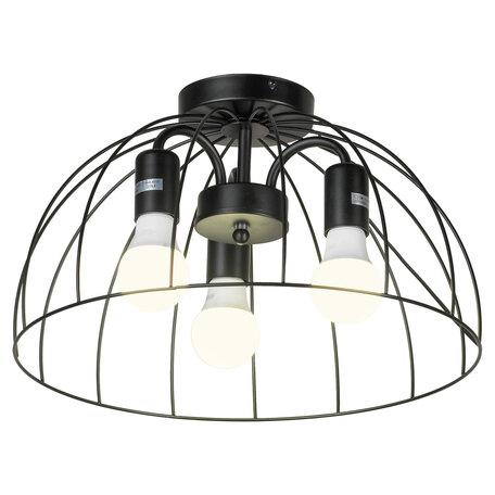 Светильник Lussole LGO Lattice GRLSP-8215, IP21, 3xE27x10W, черный, металл