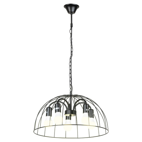 Светильник Lussole LGO Lattice GRLSP-8216, IP21, 5xE27x10W, черный, металл