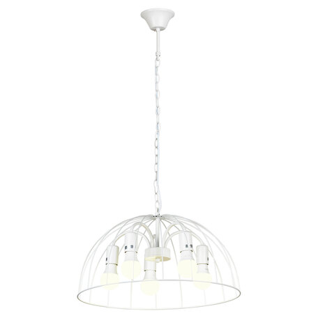 Светильник Lussole LGO Lattice GRLSP-8217, IP21, 5xE27x10W, белый, металл