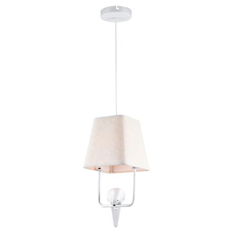 Светильник Lussole LGO Dove GRLSP-8220, IP21, 1xE27x6W, белый, металл, текстиль