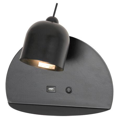 Светильник с полкой Lussole LGO Cozy GRLSP-8232, IP21, 1xG9x5W, черный, металл