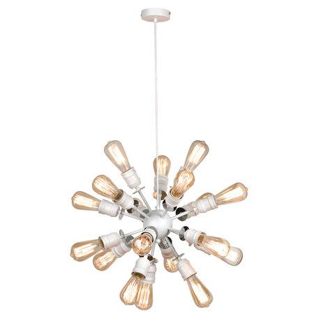 Светильник Lussole Loft Elmira GRLSP-8205, IP21, 18xE27x10W, белый с хромом, металл