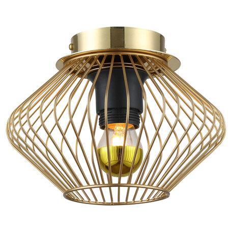 Светильник Lussole Loft Brooks GRLSP-8248, IP21, 1xE27x10W, матовое золото, металл