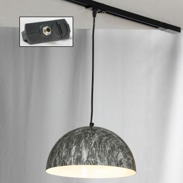 Светильник Lussole LGO Caldwell LSP-0178-TAB, IP21, 3xE14x40W, черный, серый, металл