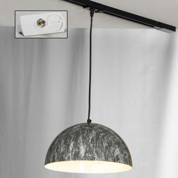 Светильник Lussole LGO Caldwell LSP-0178-TAW, IP21, 3xE14x40W, черный, серый, металл