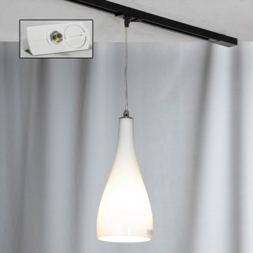 Светильник Lussole Loft Rimini LSF-1106-01-TAW, IP21, 1xE27x60W, хром, белый, металл, стекло
