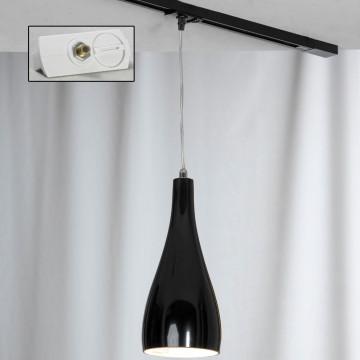 Светильник Lussole Loft Rimini LSF-1196-01-TAW, IP21, 1xE27x60W, хром, черный, металл, стекло