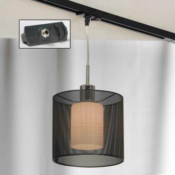 Подвесной светильник для шинной системы Lussole Loft Rovella LSF-1906-01-TAB, IP21, 1xE27x60W, хром, черный, металл